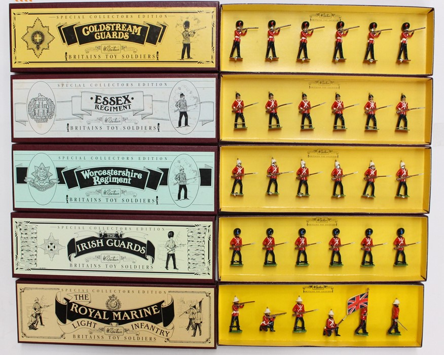 Britains: A collection of five boxed Britains sets to comprise: Coldstream Guards, 8800; Essex