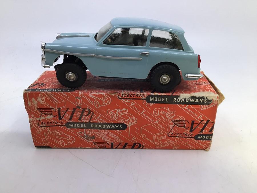 VIP Model Roadways: A boxed VIP Model Roadways, Austin A40, light blue body, vehicle appears good,