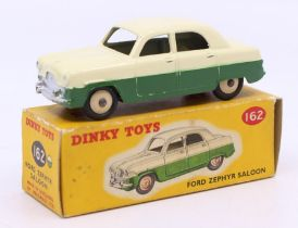 Dinky: A boxed Dinky Toys, Ford Zephyr Saloon, 162, two-tone cream and green body, original box,
