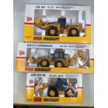 JCB: A collection of assorted JCB diecast models by Joal: 435 Loader, 525-58 Telescopic Handler,