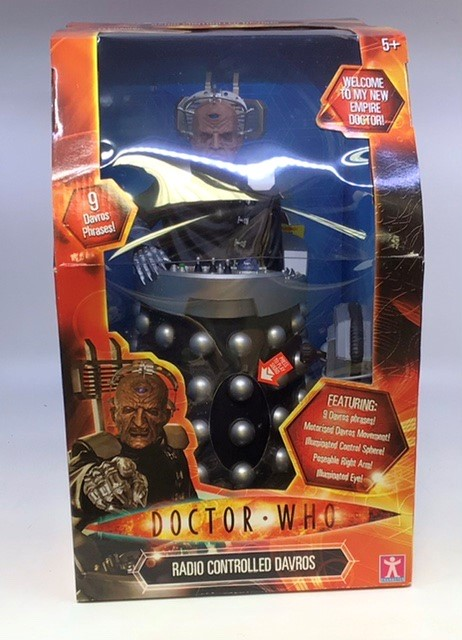 Dr Who: A boxed Dr Who Radio Controlled Davros , unused, boxed including outer box. Please study