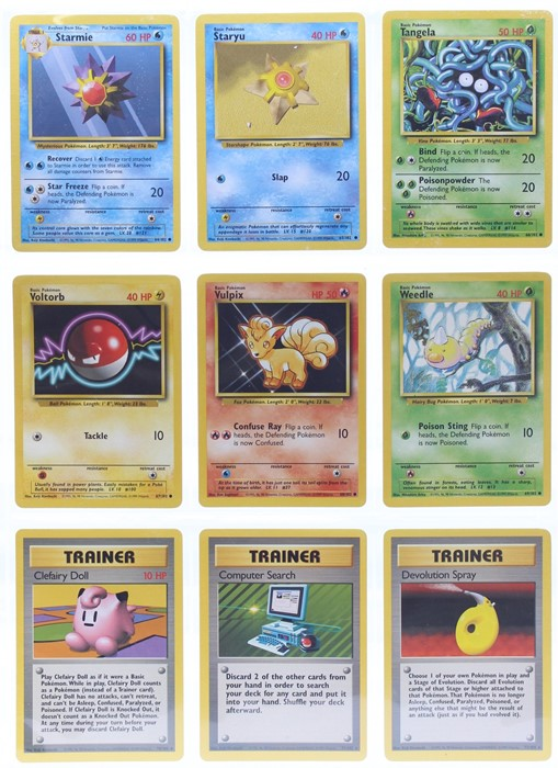 Pokemon: A complete Pokemon Base Card Set, comprising 102 cards, including a 1st Edition Holo - Image 8 of 13