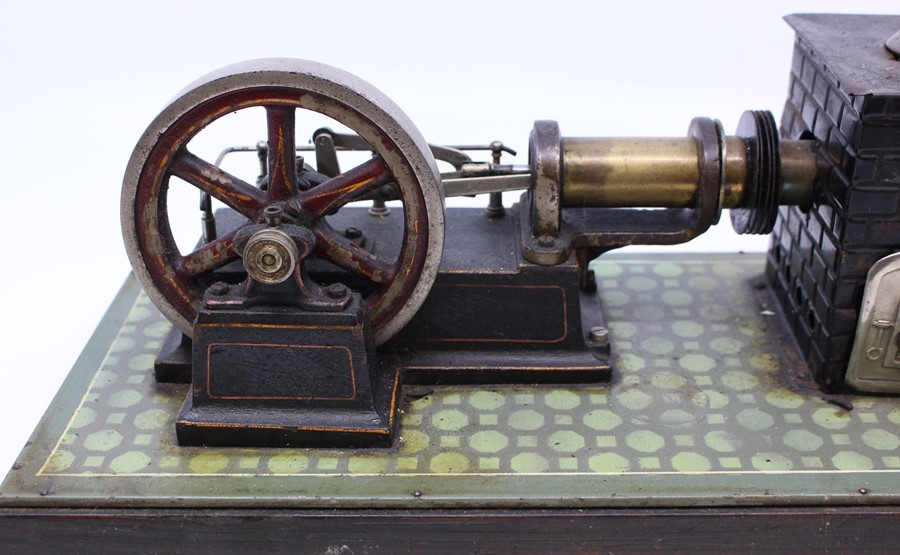 Live Steam: An early 20th century, horizontal live steam, stationary engine, single cylinder, - Image 2 of 3