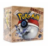 Pokemon: A sealed Pokemon Fossil Set 1st Edition Booster Box, comprising 36 unopened packs,