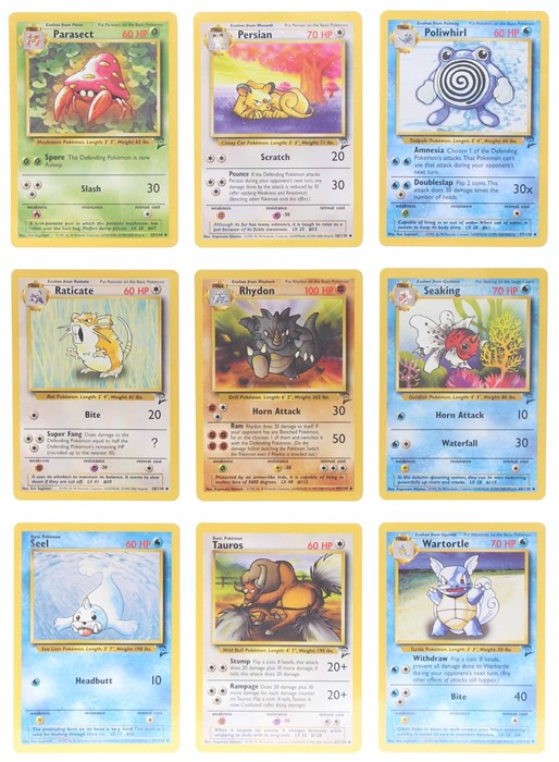 Pokemon: A completePokemon Base Card Set 2, comprising 130 cards, plus an additional Wartortle ( - Image 7 of 17