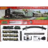 Hornby: A boxed Hornby, Tornado Pullman Express, R1169, comprising: locomotive, three coaches,