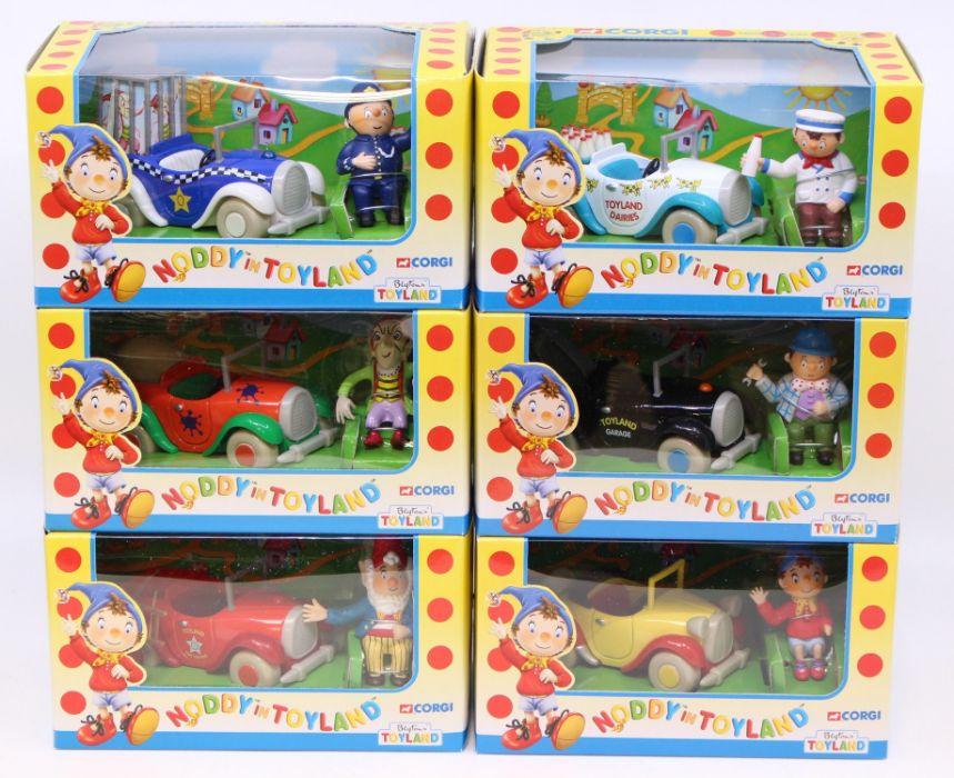Corgi: A set of six Corgi Noddy Toyland vehicles, contents appear untouched, in trade box; - Image 3 of 4