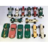 VIP Raceways: A collection of unboxed VIP Raceways vehicles to include: Lotus, Ferrari, BRM, Healey,