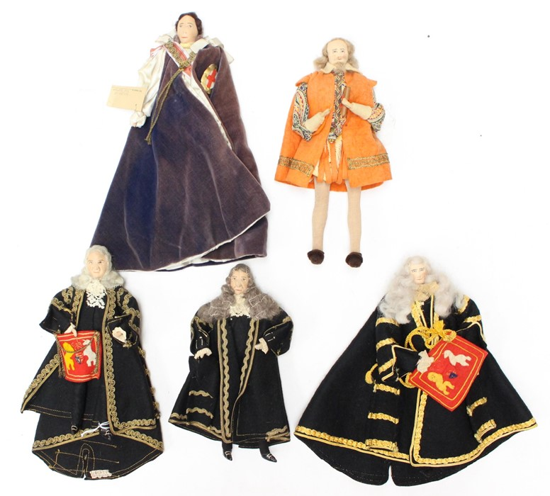 Liberty: A collection of five rare 1930s Liberty dolls to comprise: Knight of the Garter,