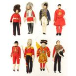 Liberty: A collection of eight rare 1930s Liberty dolls to comprise: Grenadier Guard, Life Guard,