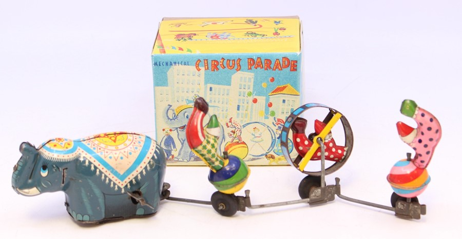 TPS: A boxed, Tokyo Playthings, Mechanical Circus Parade, mechanism does appear to work butis in