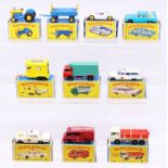 Matchbox: A collection of assorted boxed Matchbox Series vehicles to comprise: Ford Tractor, 39, box