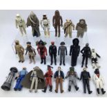 Star Wars: A collection of 12 Star Wars figures and vehicles, together with assorted loose