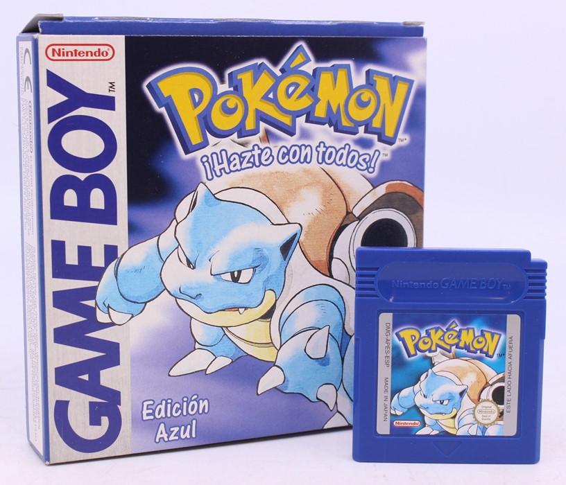 Pokémon: A boxed Pokémon Blue (Edicion Azul) game, Spanish Version, complete with Trainer Guide - Image 2 of 2