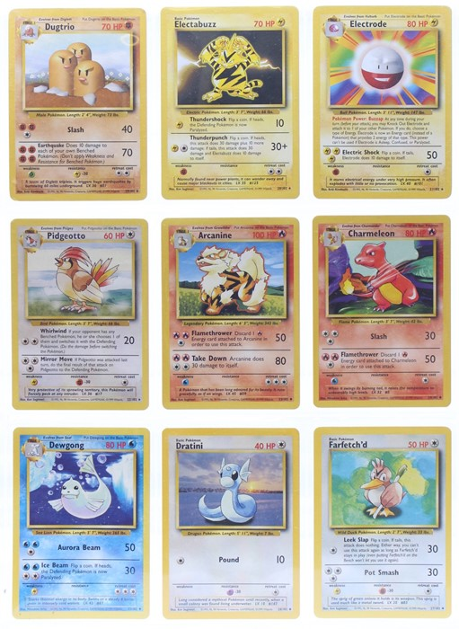 Pokemon: A complete Pokemon Base Card Set, comprising 102 cards, including a 1st Edition Holo - Image 3 of 13