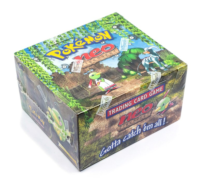Pokemon: A sealed Pokemon Neo Discovery Set Unlimited Booster Box, comprising 36 unopened packs, - Image 2 of 5
