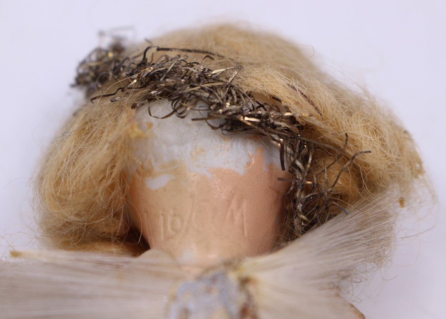 Armand Marseille: A small Armand Marseille composition doll, Christmas Fairy, marked to head, A 16/0 - Image 2 of 2
