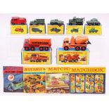 Matchbox:A collection of assorted boxed Matchbox vehicles to comprise: 8-Wheel Tipper Truck, K-1,