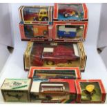 Britains: A collection of assorted Britains to include: Massey Ferguson Combine Harvester 9570,