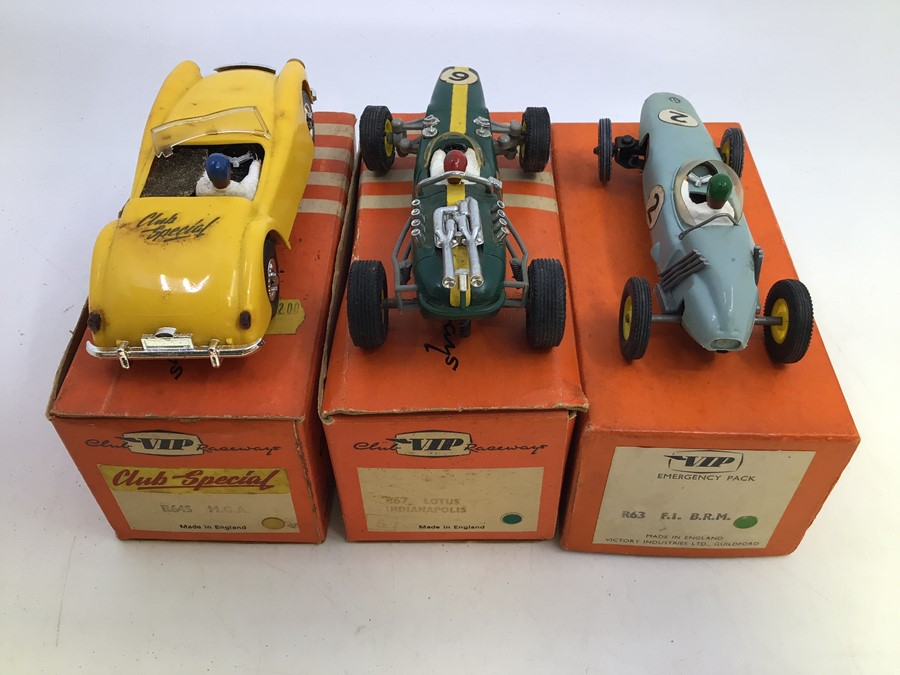VIP Raceways: A collection of three boxed VIP Raceways vehicles to comprise: Lotus Indianapolis, - Image 2 of 3