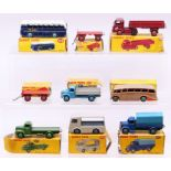 Dinky: A collection of nine boxed Dinky Toys to comprise: Luxury Coach, 281, beige body with
