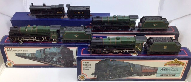 Bachmann: A collection of four Bachmann locomotives to include: 31-225 BR Black Watch; 31-480 LMS