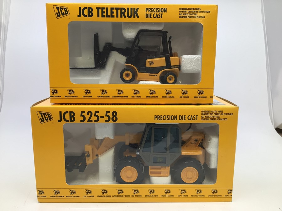 JCB: A collection of assorted JCB diecast models by Joal to include: Teletruk, 525-58 Loadall, 435 - Image 4 of 4