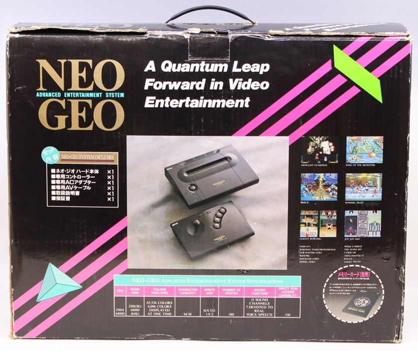 Neo Geo: A boxed Neo Geo Advanced Entertainment System Console, complete with certificate matching - Image 2 of 6