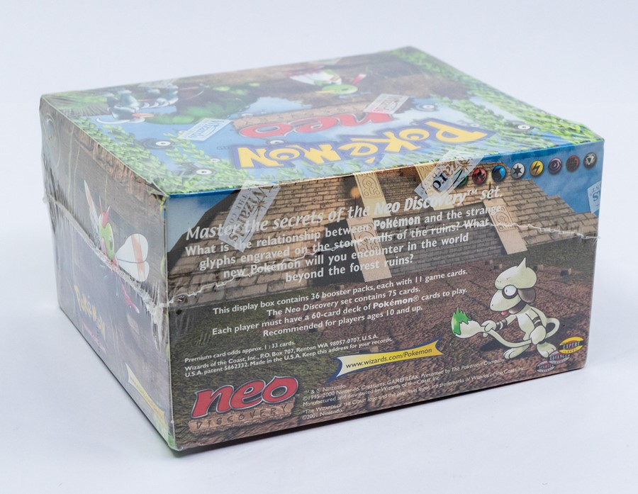 Pokemon: A sealed Pokemon Neo Discovery Set Unlimited Booster Box, comprising 36 unopened packs, - Image 3 of 5