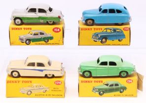 Dinky: A collection of four boxed Dinky Toys vehicles to comprise: Vauxhall Cresta Saloon, 164, grey