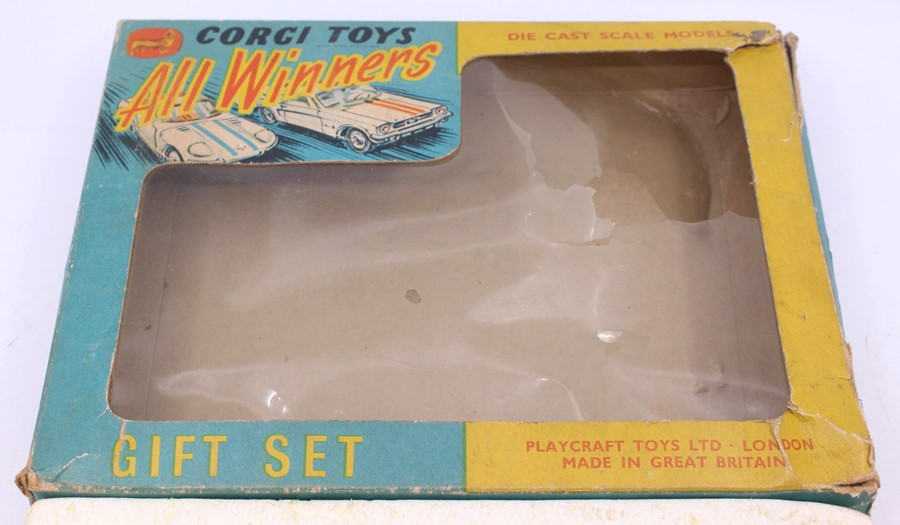 Corgi: A boxed Corgi Toys, Gift Set 46, All Winners, comprising: Ford Mustang Fastback 2+2, white - Image 2 of 4