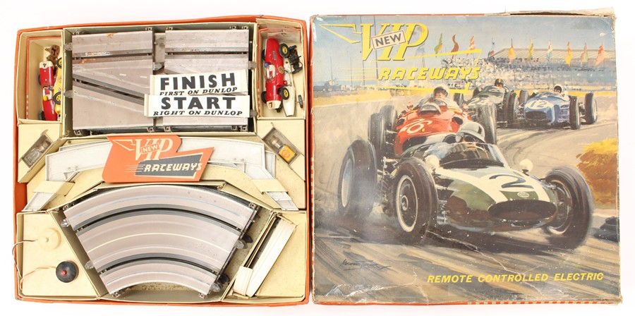 VIP Raceways: A boxed 'New' VIP Raceways, Remote Controlled Electric, Set R1, appears complete minus