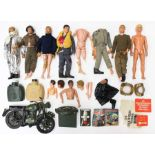 Action Man: A collection of assorted loose Action Man figures and accessories, some general playwear