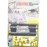 Scalextric: A boxed Scalextric Set Expansion Pack, Cat No. HP/1, appears complete, figures appear to
