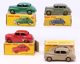 Dinky: A collection of four boxed Dinky Toys to comprise: Morris Oxford Saloon, 159, green body,