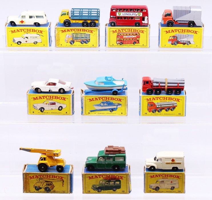Matchbox: A collection of assorted boxed Matchbox Series vehicles to comprise: Mercedes-Benz
