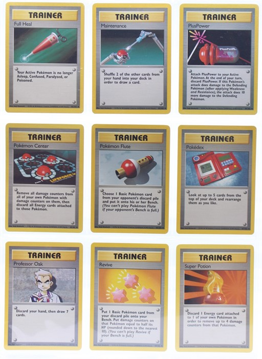 Pokemon: A complete Pokemon Base Card Set, comprising 102 cards, including a 1st Edition Holo - Image 10 of 13