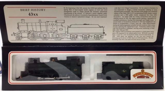 Railway: three 00 gauge Bachmann locomotives: 32-353 Standard class 4MT Tank repainted, 31-826 - Image 3 of 5