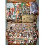 Figures: A collection of assorted Britains and Timpo plastic figures to include soldiers,