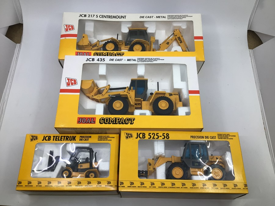 JCB: A collection of assorted JCB diecast models by Joal to include: Teletruk, 525-58 Loadall, 435
