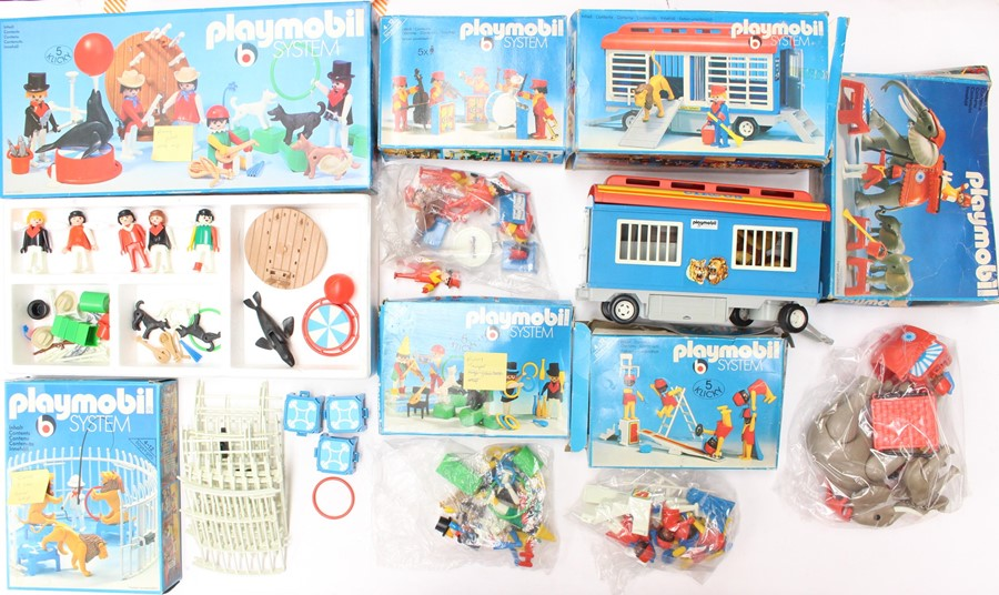 Playmobil: A collection of eight boxed Playmobil sets to comprise: Ref 3510 Circus; Ref 3519; Ref - Image 2 of 2