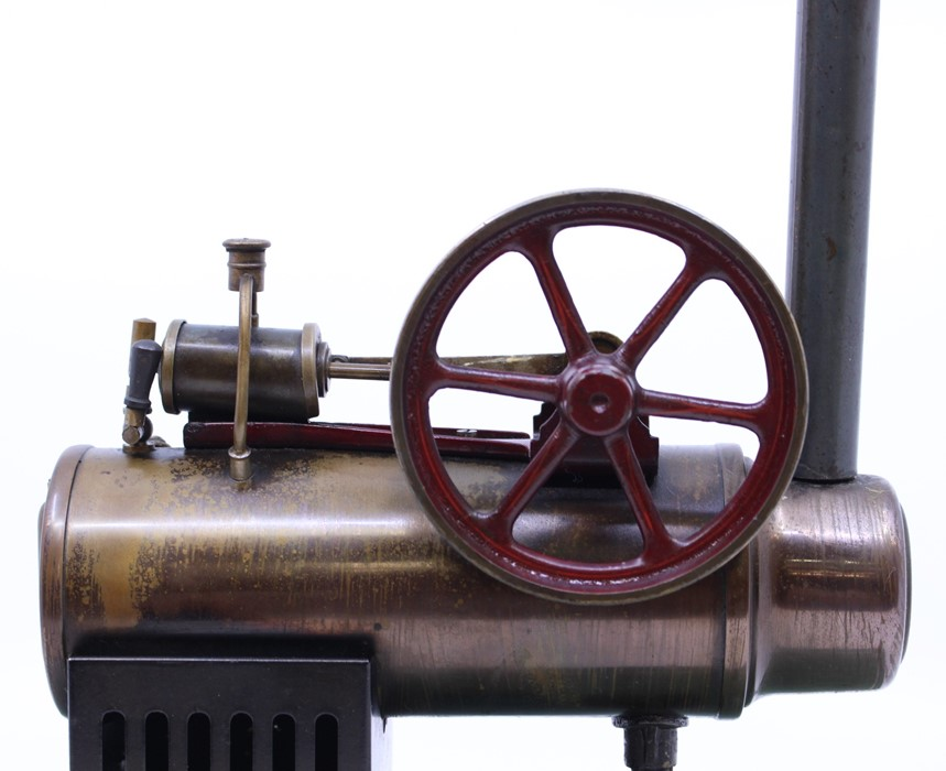 Bing: An early 20th century, horizontal live steam, Gebruder Bing, stationary engine, single fixed