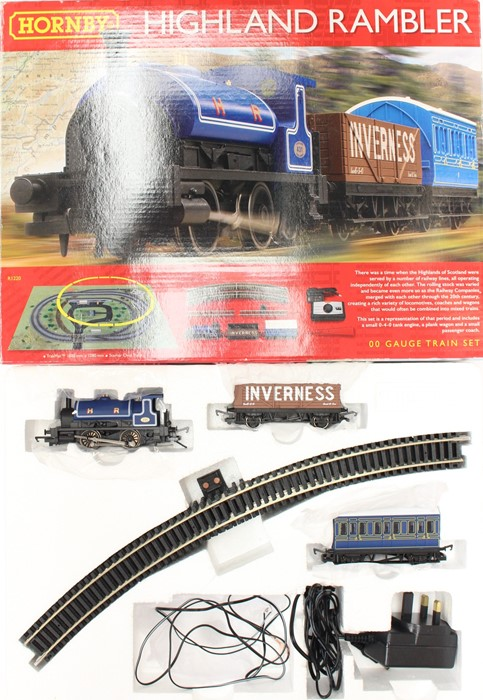 Hornby: A boxed Hornby, OO Gauge, Highland Rambler Set, R1220, appears complete, DCC Ready,
