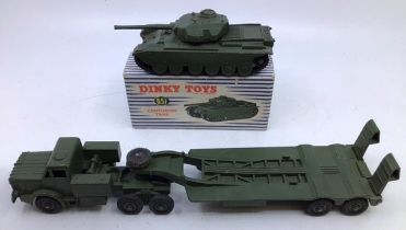Dinky: A collection of assorted Dinky military vehicles, 651 Centurian Tank in original boxe, 660