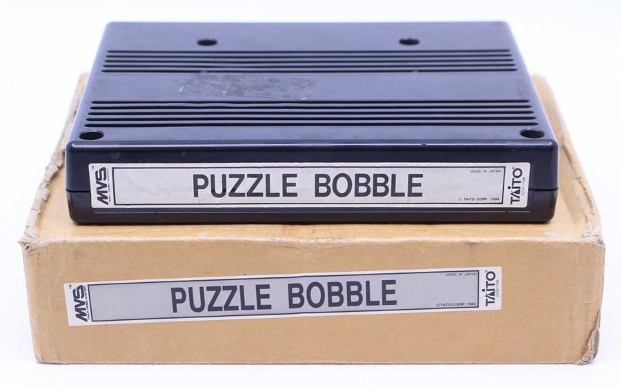 Neo Geo: A boxed Neo Geo MVS Arcade, Puzzle Bobble, Game Cartridge, slight damage to box, - Image 2 of 2