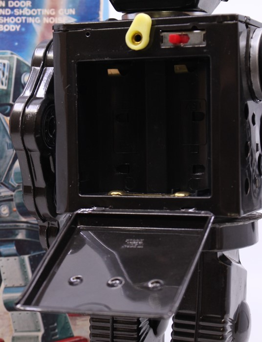 Horikawa: A boxed Horikawa, battery operated, tinplate, Rotate-o-Matic, Super Astronaut: Automatic - Image 2 of 3