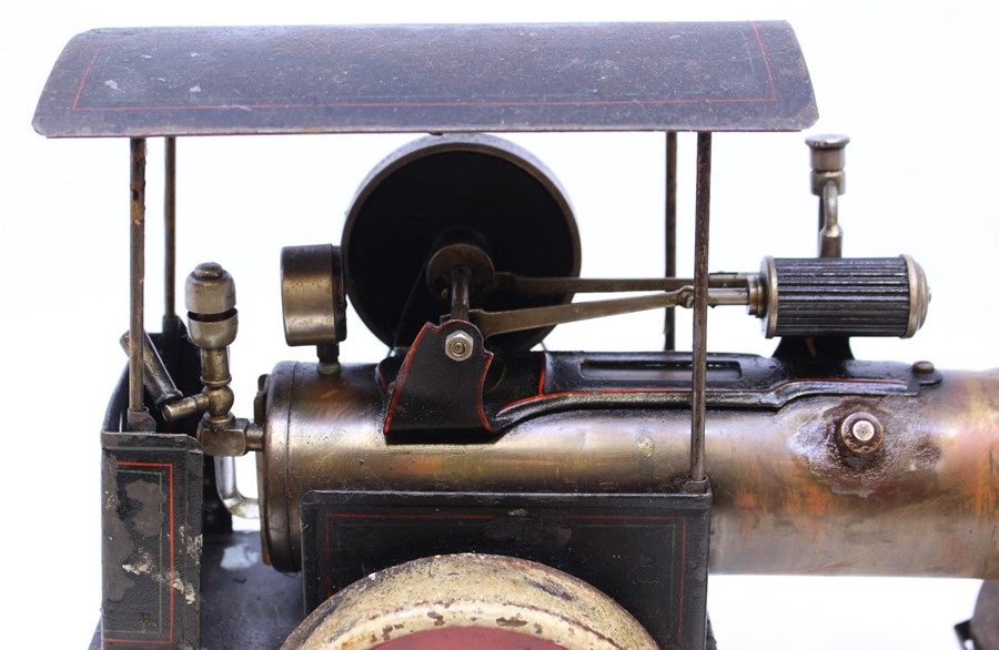 """Live Steam: An early 20th century, live steam, D.C., Germany, steam roller, flywheel approx. 2.5"""", - Image 4 of 4"""