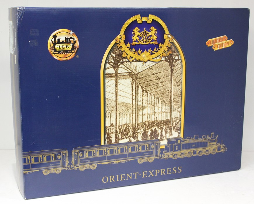 LGB: A boxed, Limited Edition, LGB Gauge 1, Orient Express Set, 70685, with certiticate and