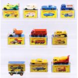Matchbox: A collection of assorted boxed Matchbox Series vehicles to comprise: BP Dodge Wreck Truck,