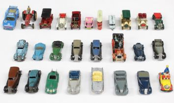 Dinky: A collection of assorted unboxed, playworn Dinky vehicles, some possibly repainted; as well